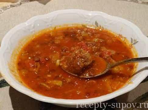 рецепт супа из красной чечевицы