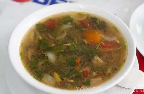 суп том ям со свиными ребрышками