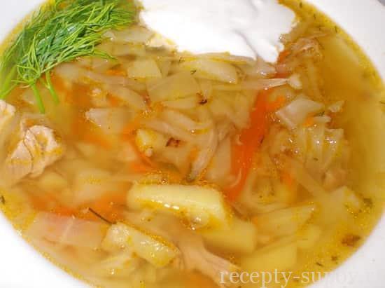рецепт свежих щей с капустой