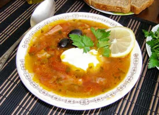 рецепт солянки с курицей и колбасой