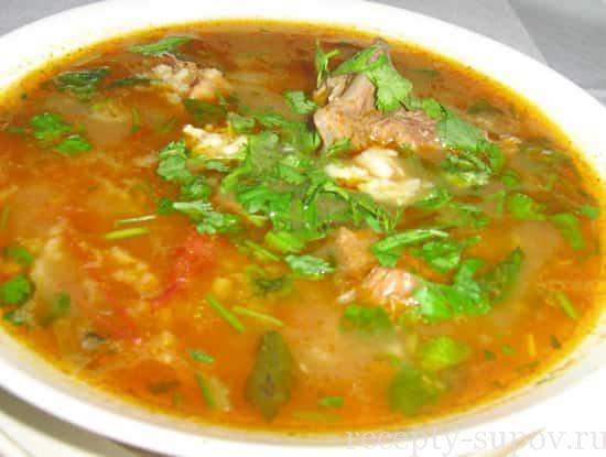 рецепт супа харчо с бараниной
